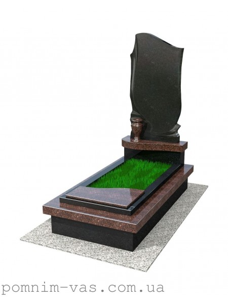 Памятник гранитный трехцветный