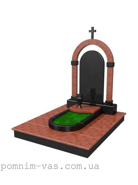 Памятник гранитный фигурный с крестом
